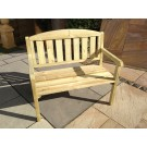 Garden Furniture - 2 Seat Bench with Back