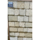 Hardstone - Indian Sandstone Cobbles (Setts) - Tumbled Sandur Yellow - Mixed Sizes Packs